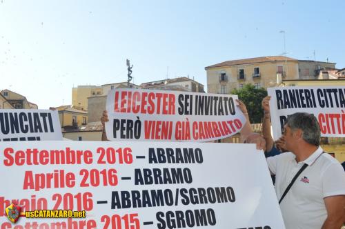 Protesta per i lavori al Ceravolo
