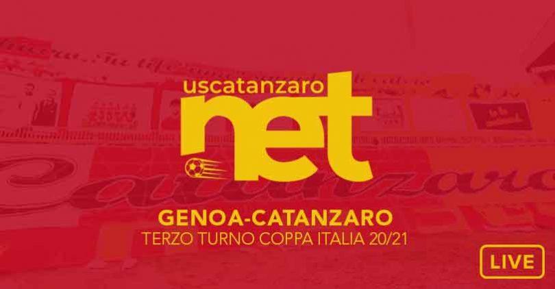 Genoa Catanzaro Coppa Italia Live