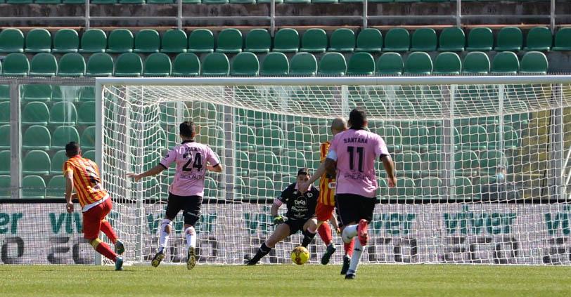 Verna in gol contro il Palermo